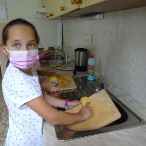 Pohár v kuchyňce